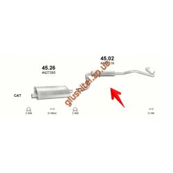 Глушитель Крайслер Вояджер (Chrysler Voyager) 88-95 2.5i SWB kat (45.02) Polmostrow алюминизированный