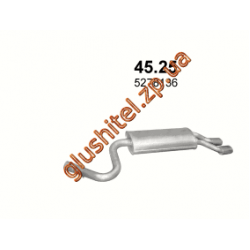 Глушитель Крайслер Стратус Кабрио (Chrysler Stratus JX Cabrio) 2.5 LX V6 (45.25) Polmostrow алюминизированный
