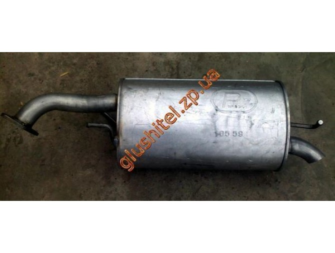 Глушитель Шевроле Авео (Chevrolet Aveo) (05.59) Хетчбек Polmostrow алюминизированный