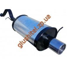 Глушитель прямоточный ВАЗ 1119 (Калина хетчбэк) цилиндрическая насадка 1.4, 1.6 - Unimix