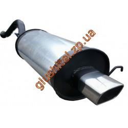 Глушитель прямоточный ВАЗ 1119 (Калина хетчбэк) прямоугольная насадка 1.4, 1.6 - Unimix