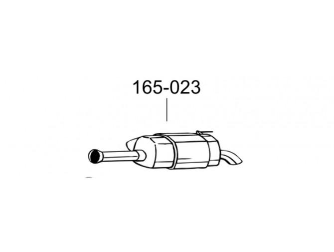 Глушитель Хюндай i10 (HYUNDAI i10) 1.2 HATCHBACK 08-11 (165-023) Bosal 10.75 алюминизированный