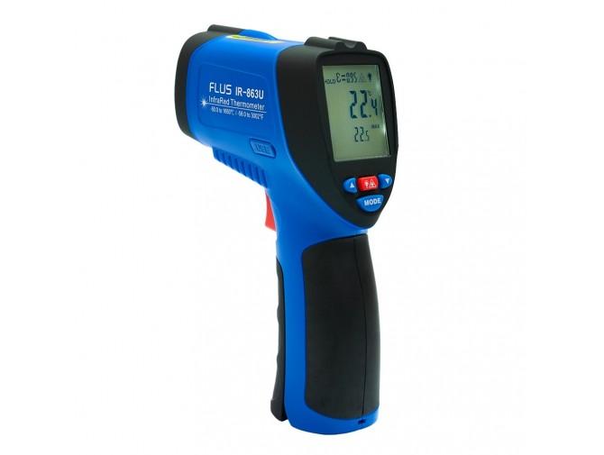 Инфракрасный термометр пирометр дистанционный FLUS IR-863U (-50…+1650) с USB подключением