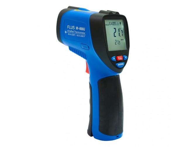 Инфракрасный дистанционный термометр-пирометр FLUS IR-866U (-50…+2250) с USB