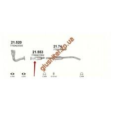 Заменитель катализатора Рено Меган I (Renault Megane I) / Рено Сценик I (Renault Scenic I) 1.9D 95-02 (21.553) Polmostrow алюминизированный