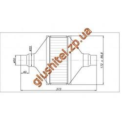Катализатор универсальный плоский 120.2091 ВP 1400 E4 (объем до 1,4 л, диаметр входа 50мм или 55мм, длинна 373мм, ширина 172мм, высота 88мм)