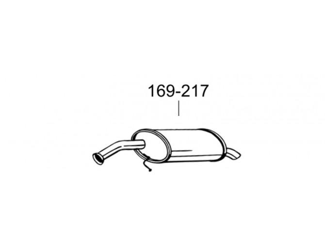 Глушитель Кіа Піканто (Kia Picanto) 1.0-1.1 (169-217) Bosal 47.71 алюминизированный