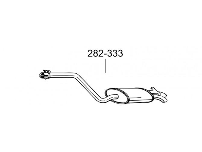 Глушитель Мерседес 190-W201, 2.0/2.3/2.6 86-93 (282-333) Bosal 13.55 алюминизированный