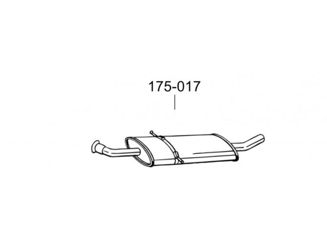 Резонатор Мерседес А200- В169 (Mercedes A200 - W169) 04- (175-017) Bosal алюминизированный