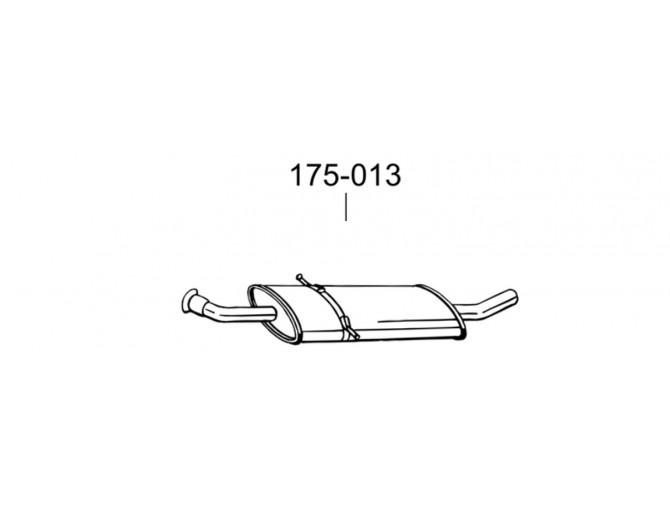 Резонатор Мерседес B170 - W245 (Mercedes B170 - W245) 05- (175-013) Bosal алюминизированный