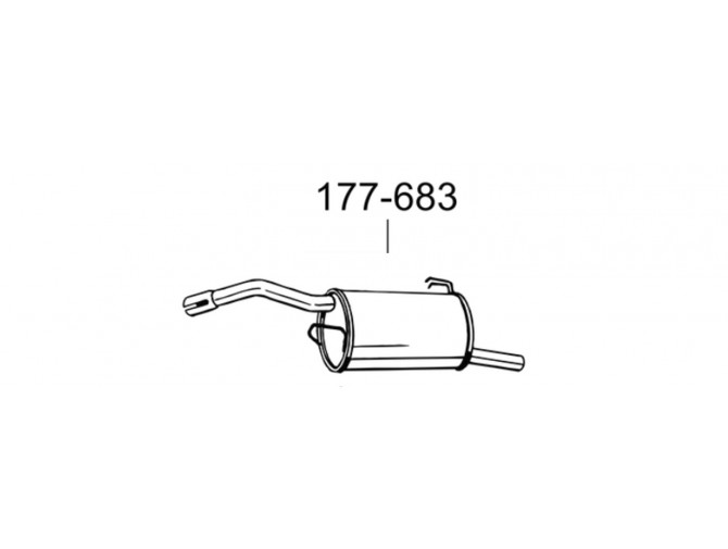 Глушитель Митсубиси Кольт (Mitsubishi Colt) 04- (177-683) Bosal алюминизированный