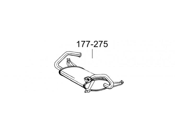 Глушитель Митсубиси Кольт (Mitsubishi Colt) 92-95 (177-275) Bosal алюминизированный