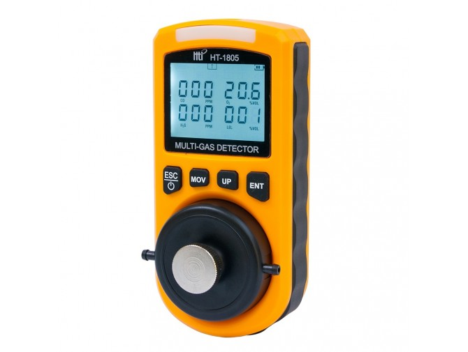 Мульти газоанализатор с сигнализатором HT-1805 (O2, СО, H2S, LEL)