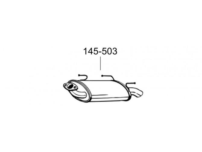 Глушитель Ниссан Альмера (Nissan Almera) 00-02 (145-503) Bosal алюминизированный