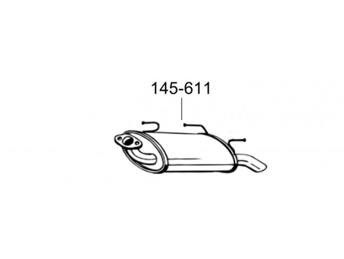 Глушитель Ниссан Альмера (Nissan Almera) 01-02 (145-611) Bosal алюминизированный