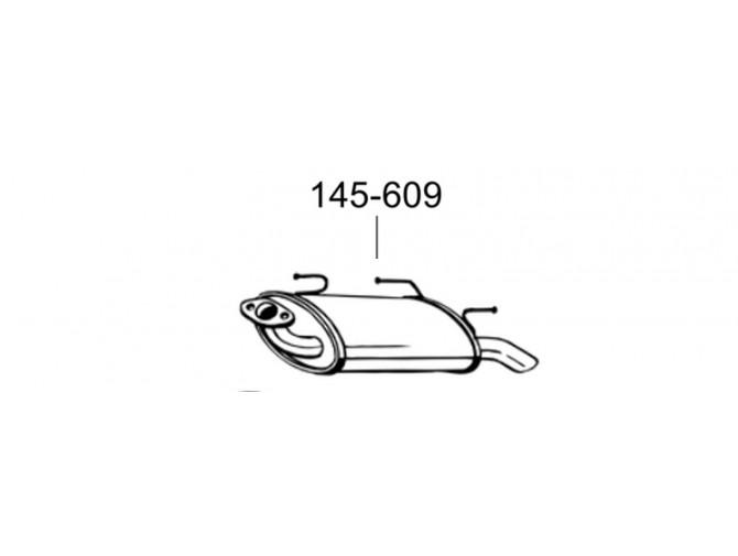 Глушитель Ниссан Альмера (Nissan Almera TI) 00-03 (145-609) Bosal алюминизированный