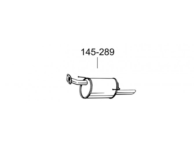Глушитель Ниссан Жук (Nissan Juke) 10- (145-289) Bosal алюминизированный