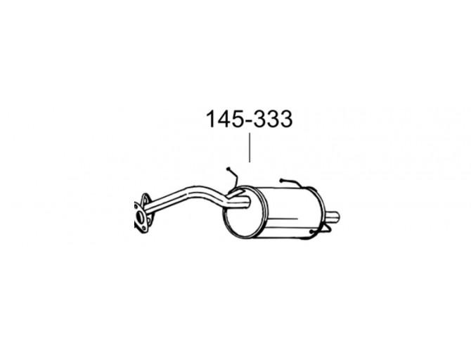 Глушитель Ниссан Микра (Nissan Micra) 00-02 (145-333) Bosal алюминизированный