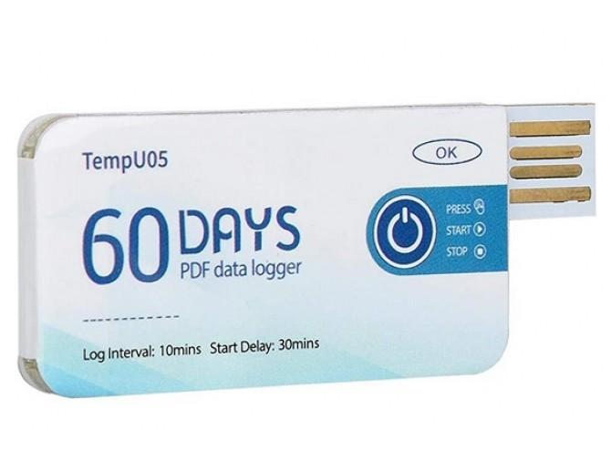 Одноразовый логгер - USB регистратор температуры TempU05 с выводом данных в PDF
