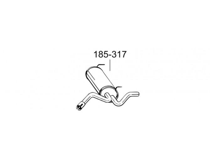 Глушитель Астра J (Opel Astra J) 09- (185-231) Bosal алюминизированный
