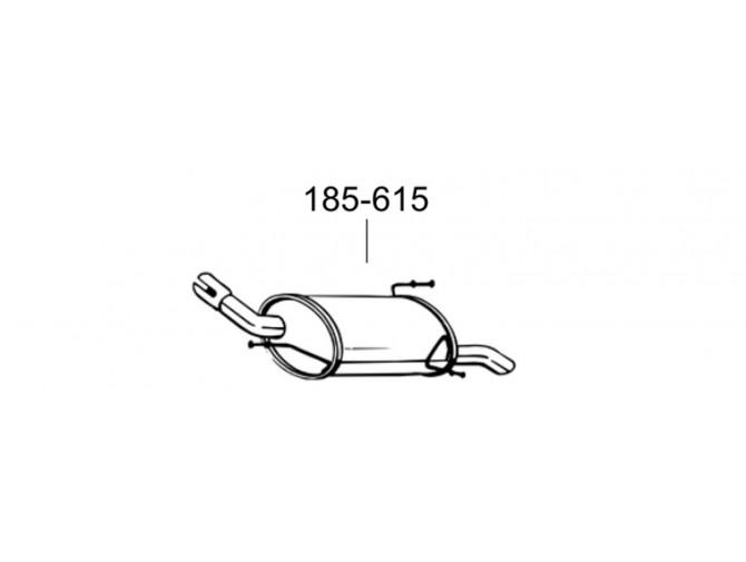 Глушитель Опель Корса С (Opel Corsa C) 00- (185-615) Bosal алюминизированный