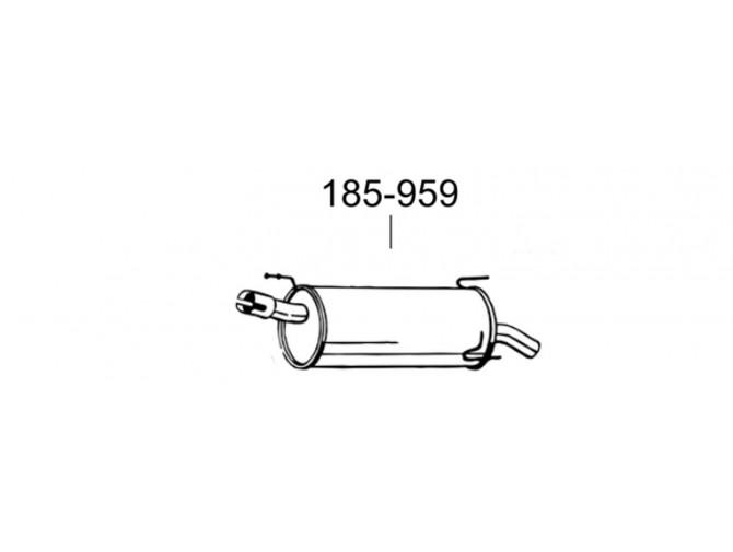 Глушитель Опель Мерива (Opel Meriva) 03- (185-363) Bosal алюминизированный