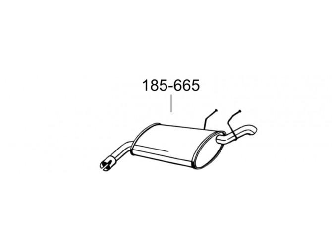 Глушитель Опель Вектра С (Opel Vectra C) 04- (185-665) Bosal алюминизированный