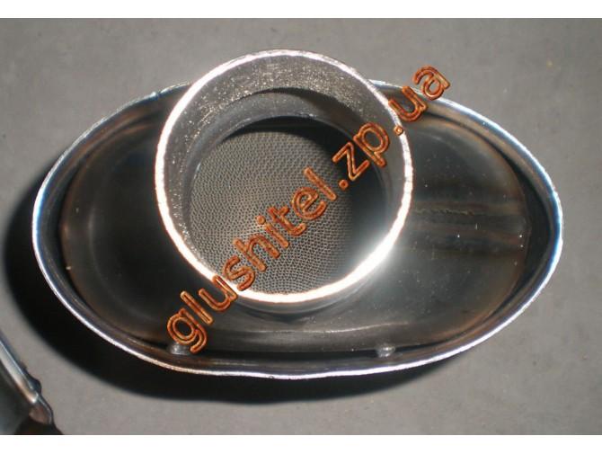 Катализатор универсальный плоский 120.1111 ВP 1600 E3 (объем 1.6-2,0 л, диаметр входа 52мм, длинна 316мм, ширина 193мм, высота 93мм)