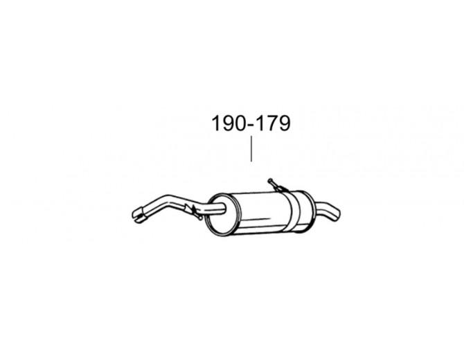 Глушитель Пежо 207 (Peugeot 207) 1.4i/1.6i 16V 07-13 () Bosal 19.182 алюминизированный