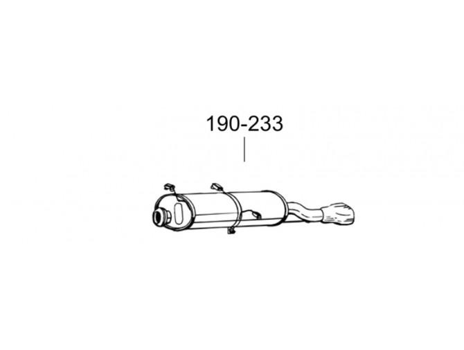 Глушитель Пежо 306 (Peugeot 306) 94-99 (190-233) Bosal алюминизированный
