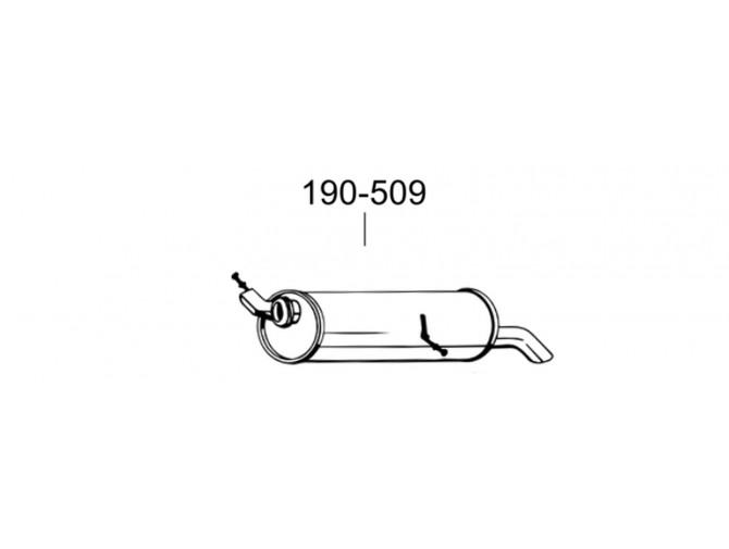 Глушитель Пежо 307 (Peugeot 307) 1.4I; 1.6-16V kombi 02 -04 (190-509) Bosal 19.408 алюминизированный