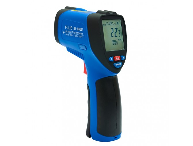 Пирометр термометр бесконтактнный инфракрасный FLUS IR-865U (-50…+1850) с выходом USB