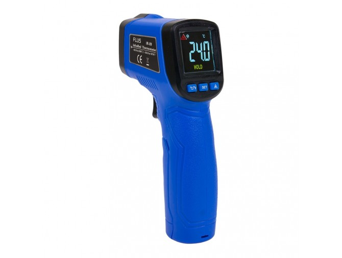 Пирометр термометр безконтактнный инфракрасный Flus IR-89 с цветным дисплеем