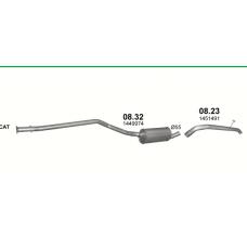 Труба выхлопная Форд Транзит Коннект (Ford Transit Connect) 1.8 TDCi (08.23) Polmostrow алюминизированный