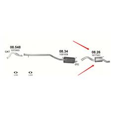 Глушитель Форд Транзит Коннект (Ford Transit Connect) 1.8i 16V (08.26) Polmostrow алюминизированный