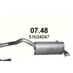 Глушитель Фиат Добло (Fiat Doblo) /Опель Комбо (Opel Combo) 1.6 Diesel  (07.48) Polmostrow алюминизированный