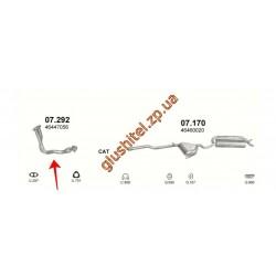 Приемная труба (штаны) Фиат Мареа (Fiat Marea) 1.6i -16V 98 (07.292) Polmostrow алюминизированный