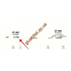 Приемная труба (штаны) Фиат Пунто (Fiat Punto) 1.3 MJTD 30-06 (07.463) Polmostrow алюминизированный