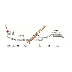 Труба приемная Хюндай Гетс (Hyundai Getz) 1.5 TDi 05-09 (10.18) Polmostrow алюминизированный