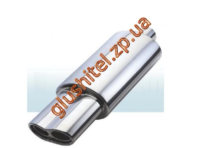 Прямоточный глушитель (двойная насадка) CarEx YFX-0713