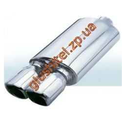 Прямоточный глушитель (двойная насадка 0345) CarEx YFX-0745/0697