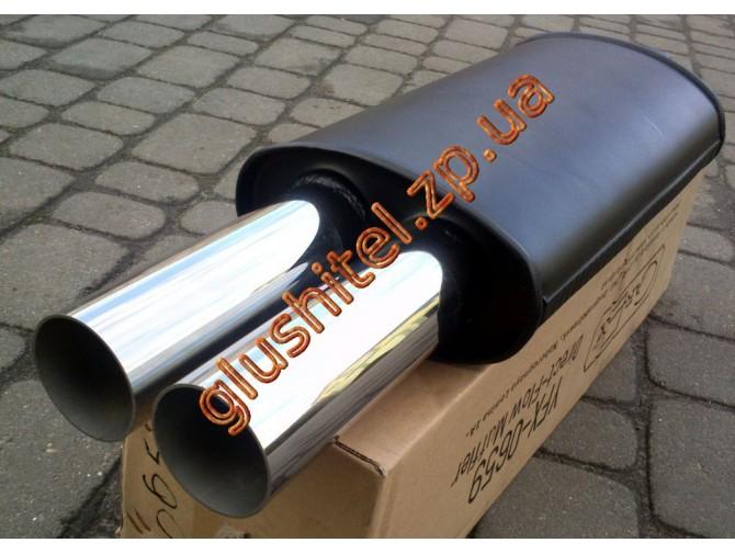 Прямоточный глушитель V023 алюминизированный/нержавейка