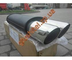 Прямоточный глушитель YFX-0243 (V030) алюминизированный / нержавейка