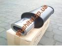 Прямоточный глушитель YFX-0709 (V015) алюминизированный/нержавейка