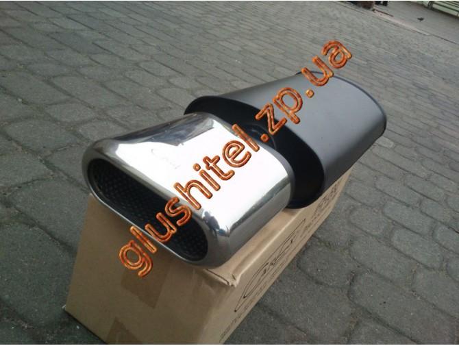 Прямоточный глушитель YFX-0719 (V016) алюминизированный/нержавейка