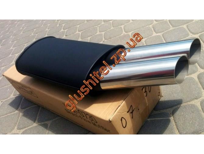 Прямоточный глушитель V027 алюминизированный/нержавейка