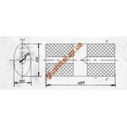 Бочка глушителя универсальная ( 210x110x450 ; d= 43 )