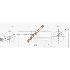 Бочка глушителя универсальная ( d= 165 x 515 ; d= 45 )