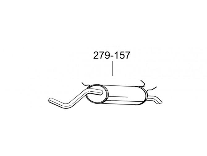 Глушитель Рено Меган (Renault Megane) / Рено Сценик I (Renault Scenic I) 1.4i 16V 99- (279-157) Bosal 21.267 алюминизированный