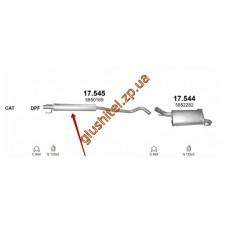 Резонатор Опель Корса С (Opel Corsa С) 1.7D 03-06 (17.545) Polmostrow алюминизированный